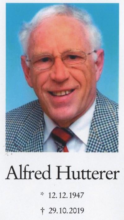 Sterbebild Alfred Hutterer